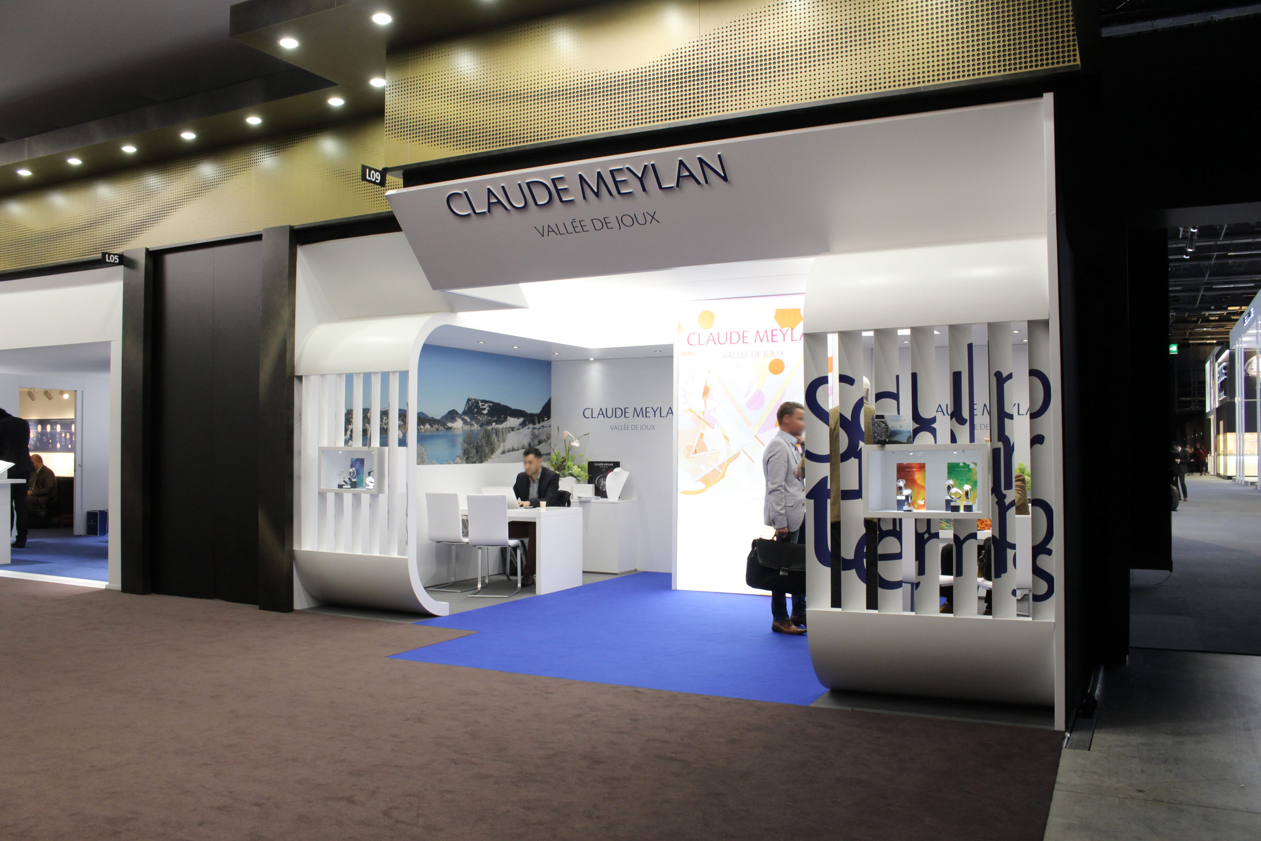 Fabrication du stand d'exposition Claude Meylan au salon Baselworld