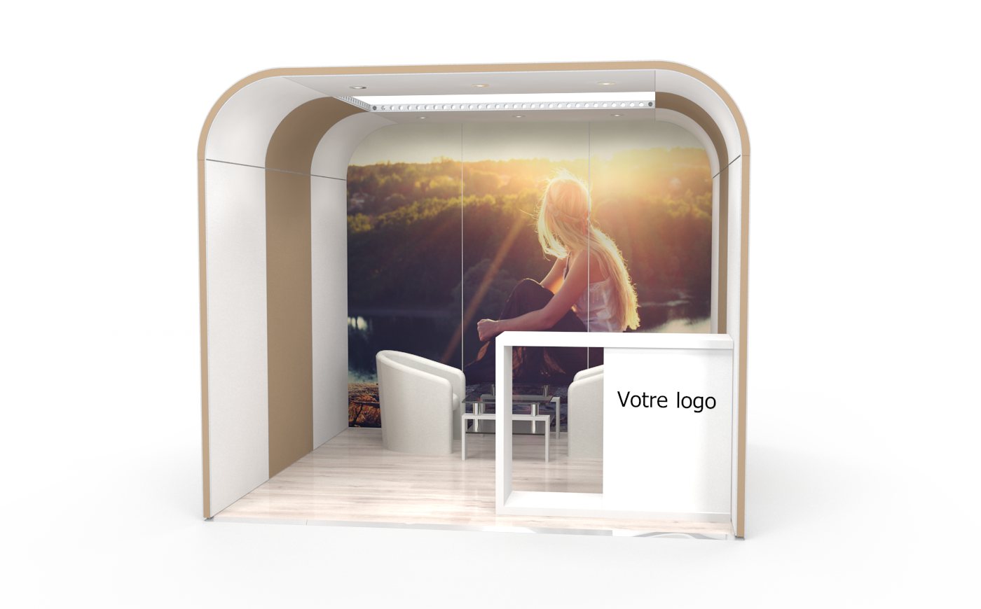 Location stand d'exposition personnalisable Cocoon 9m2