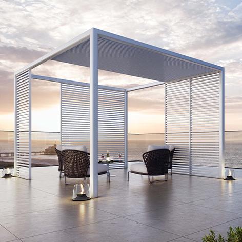 Pergola aluminium avec toit mobile. Pergola Bay.